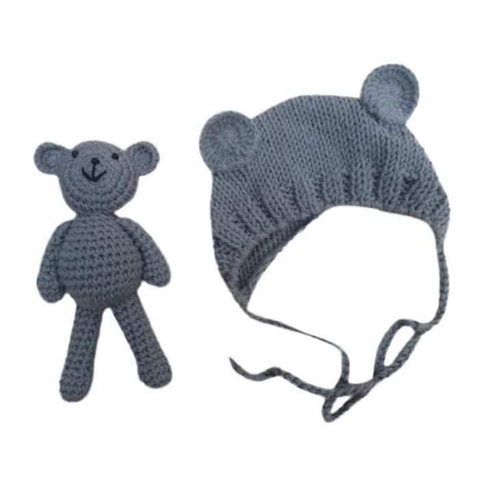 deuxsuns® Nouveau-né Stretchy Knit Photo bébé chapeau + Pantalon Costume  Photographie Props XMM70715532GY d9ac4750546