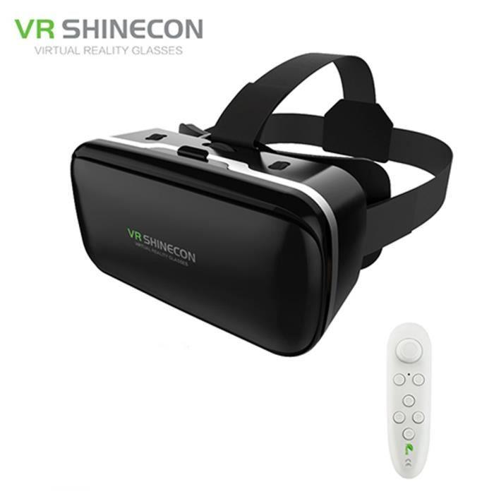 VR Shinecon 6.0 En Cuir Big Objectifs La Réalité Virtuelle Google ... 6450caf9db8c