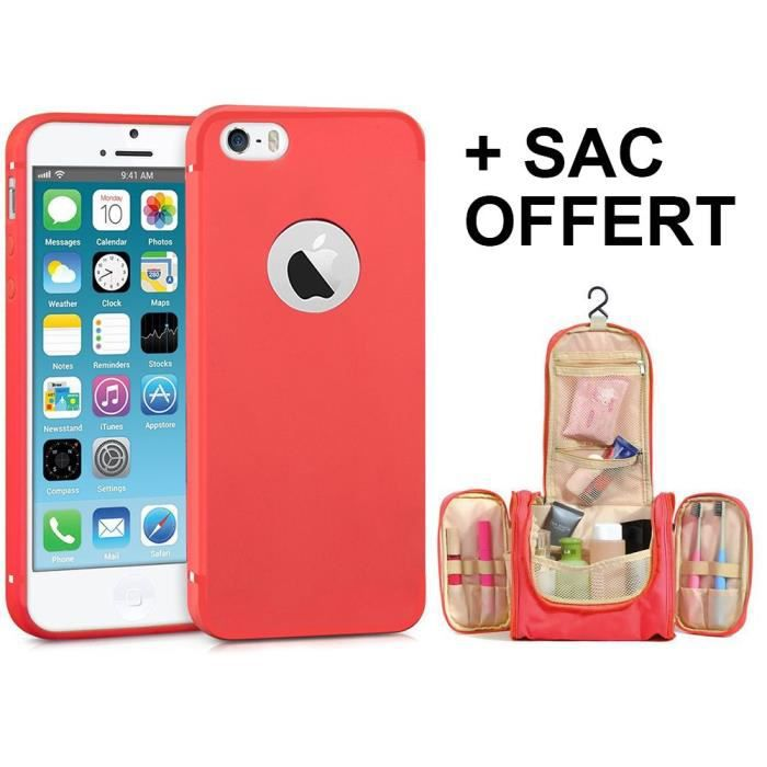coque iphone 5 rouge mate