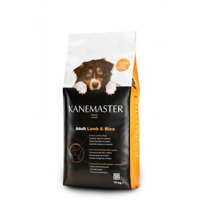 Croquette Premium Pour Chien A L'agneau & Riz Kanemaster Pro 15 Kilos