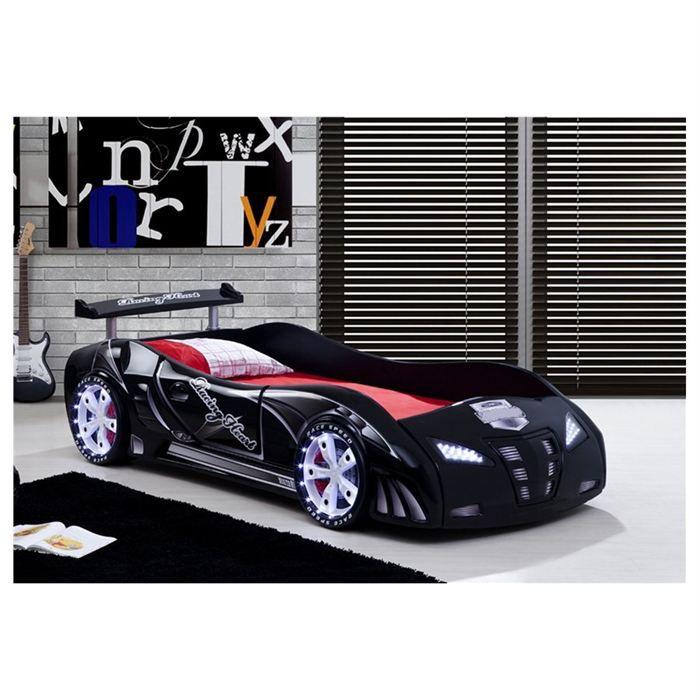 lit enfant voiture le mans racing noir achat vente structure de lit lit enf voiture lemans