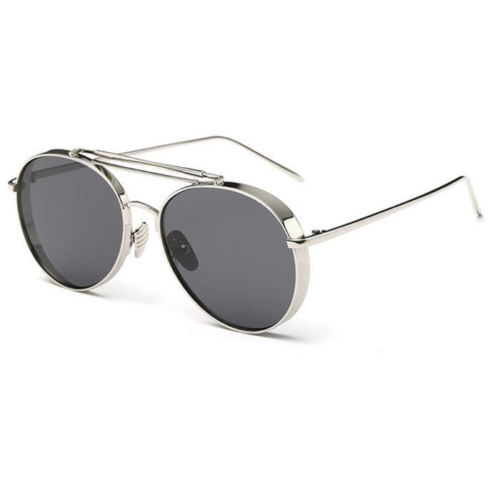 Lunettes de Soleil Polarisées Lunettes de Soleil Hommes Et Femmes Fashion Yurt Mirror Fashion Ocean Sunglasses , Silver Frame Night Video