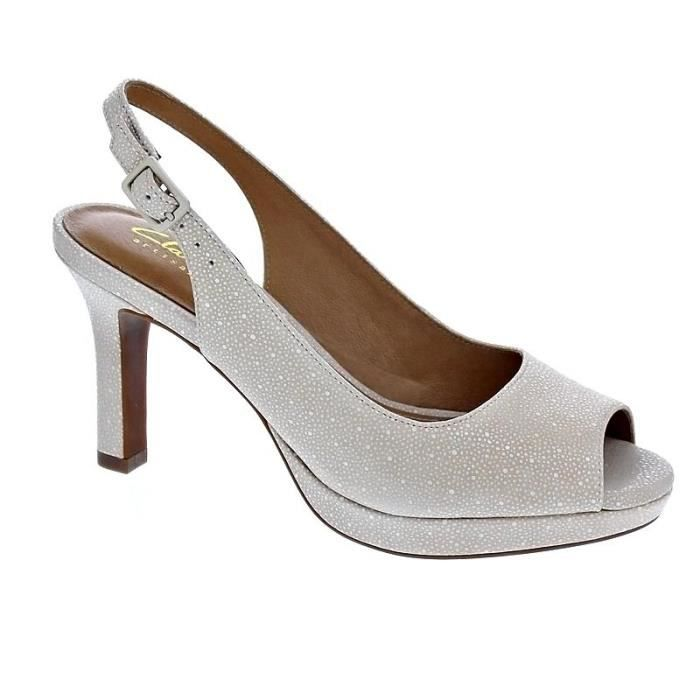 Chaussures Clarks beiges femme kBsMQjlnf