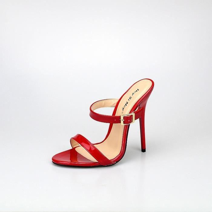13cm Extreme Talons Mode Femmes Chaussures Escarpins ouvertes sexy fétichiste Slingback Sandales Parti pour femmes Taille Plus