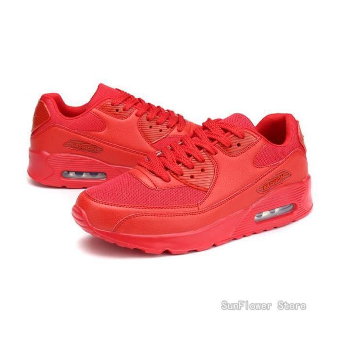 Chaussures de Sport Hommes Femmes Occasionnels Respirante Baskets - Rouge