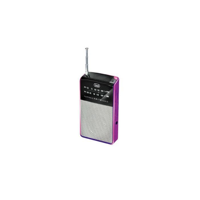 Trevi Ra 725, Portable, Analogique, Mf,fm, Violet, Aaa, 57 Mm