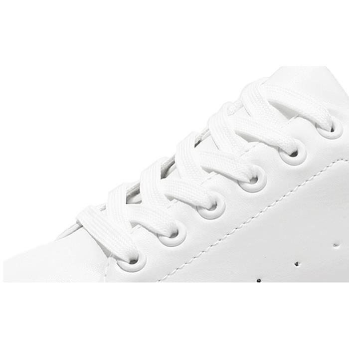 2018 printemps nouvelles chaussures blanches dames augmenté espadrilles