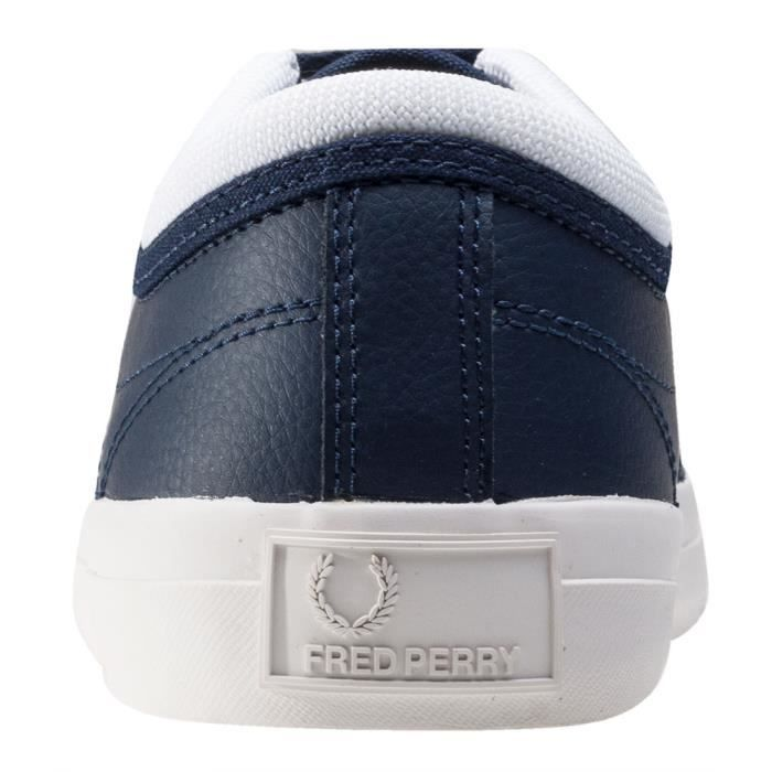 Fred Perry Kendrick Reversed Tipped Cuff Hommes Baskets Carbon Blue - 9 UK