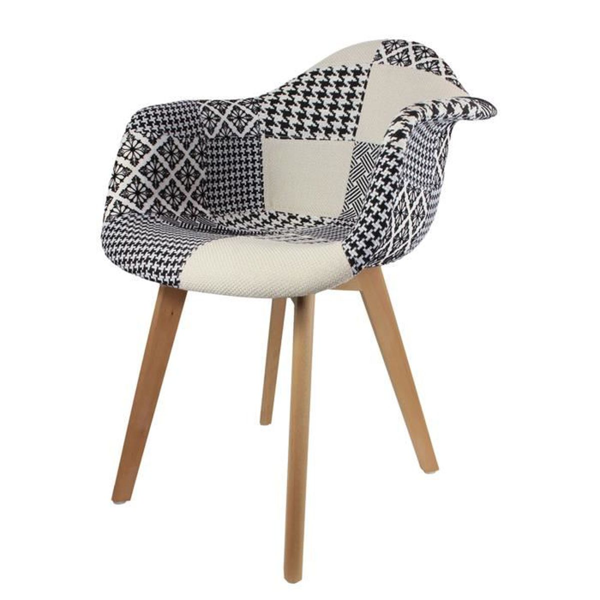 CHAISE Fauteuil Scandinave Patchwork