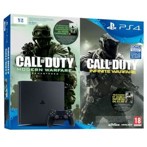 CONSOLE PS4 Nouvelle PS4 Slim Noire 1 To + Call of Duty Legacy