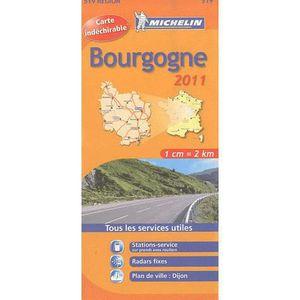 AUTRES LIVRES CARTE ROUTIERE 519 BOURGOGNE HR 2011