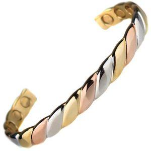 BRACELET - GOURMETTE Bracelet magnetique aimante Cuivre or argent 6 Aim