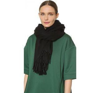 ACNE noir Cachemire ECHARPE - Achat   Vente echarpe - foulard ... 4bd157e01f1
