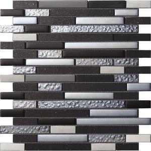 CARRELAGE - PAREMENT Mosaïque en pate de verre et carrelage - 30 x 30 c