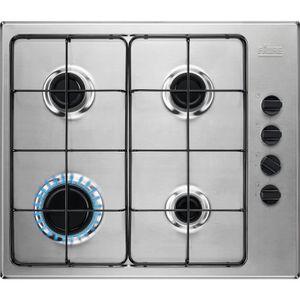PLAQUE GAZ Table de cuisson gaz 60cm 4 feux 8000w inox - FGH6