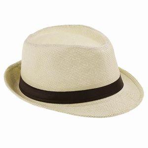 3fdf49bb1e2f CHAPEAU - BOB Chapeau de Paille Panama Homme Femme Beige Mode