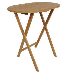 CONSOLE Table d appoint pliable en bambou