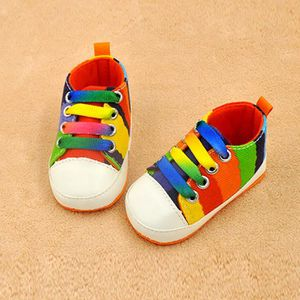 BOTTE Mode Bébé Fille Garçon Semelle Souple Anti-dérapant Sport Chaussures Chaussettes Toile Sneakers@Noir Lzv6Nvk