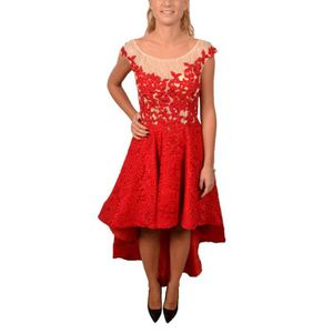 ROBE ALLURE FEMME 225200 ROUGE COTON ROBE