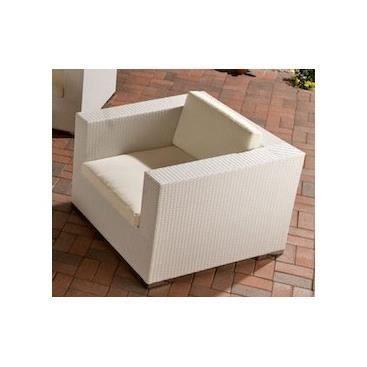 Fauteuil de jardin design Gionata Blanc Achat Vente fauteuil