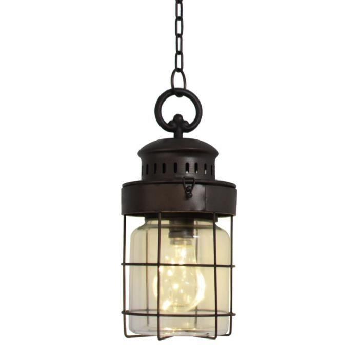 Lanterne Bocal Industriel Suspendre Cm 29x13 À Suspension Lampe 2I9HDE
