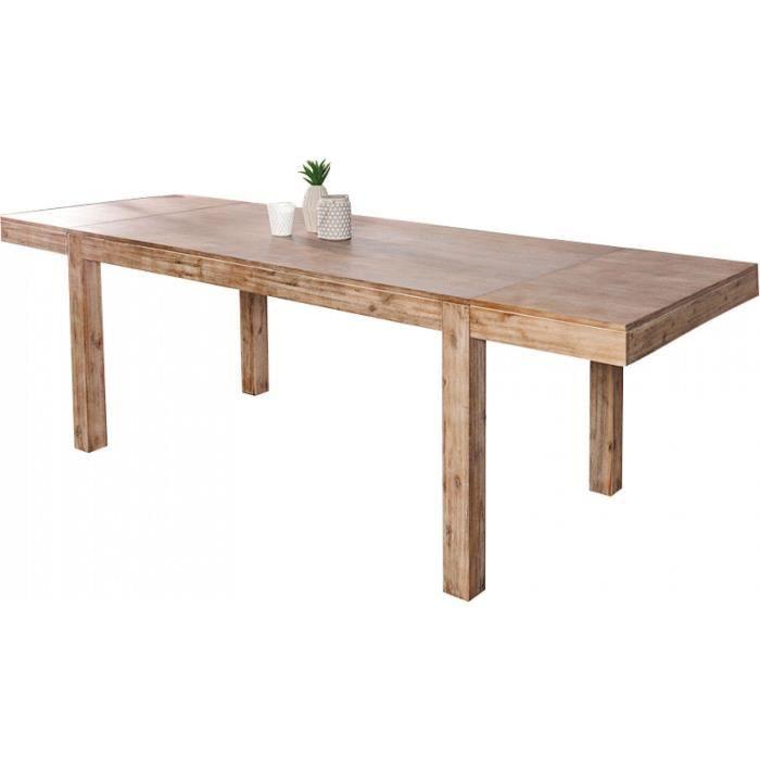Table A Manger Extensible 160 240 Cm En Bois Massif Acacia Coloris