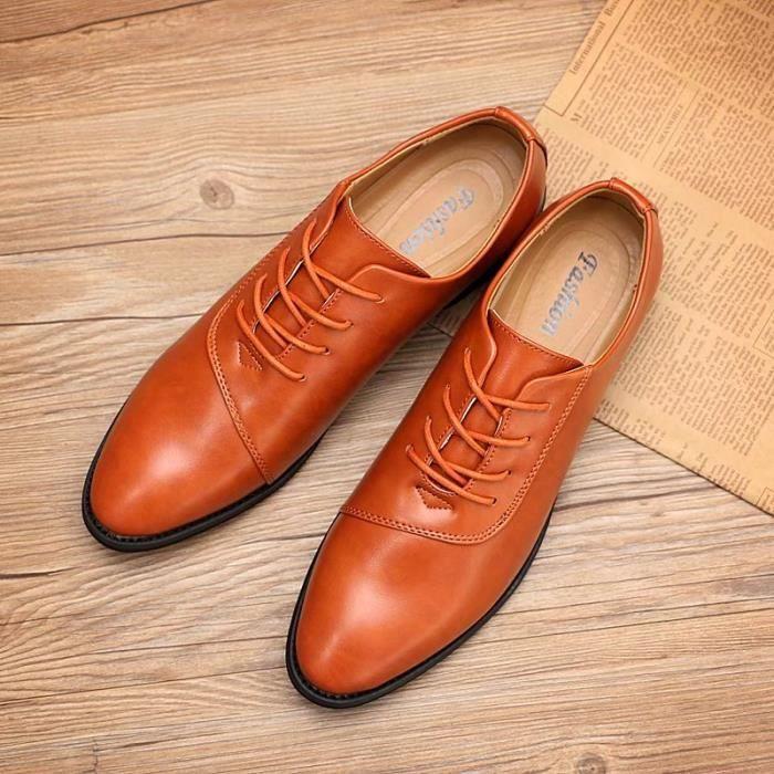 Derby 2017 Le printemps et l'été en plein air hommes chaussures en cuir décontractée