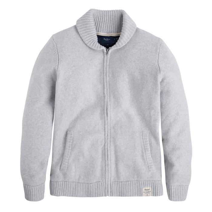 PEPE JEANS Romilly Gilet Homme Taille L GRIS