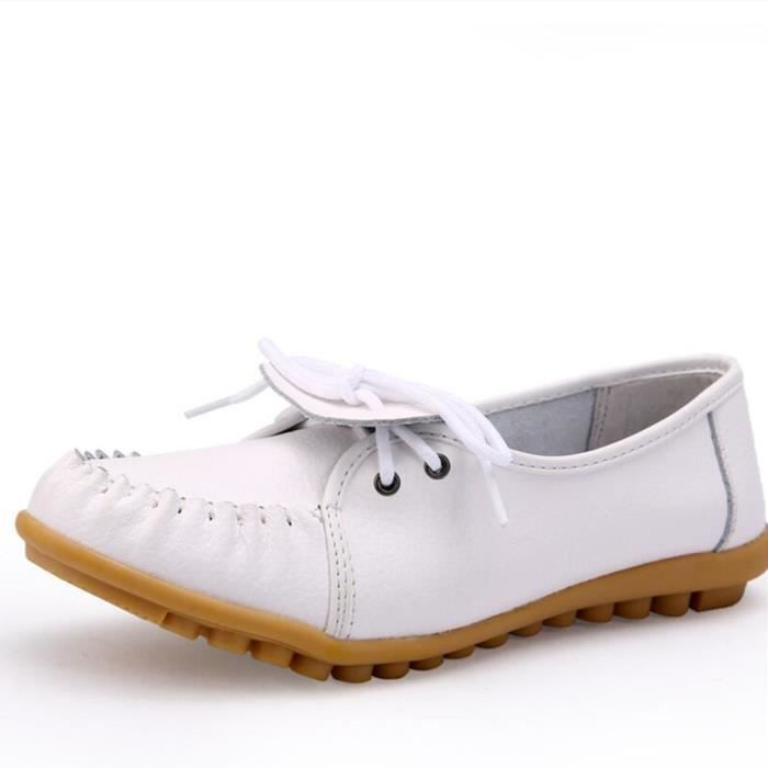 Mocassin Femmes Ultra Leger Antidérapant Chaussures XFP-XZ041Blanc36