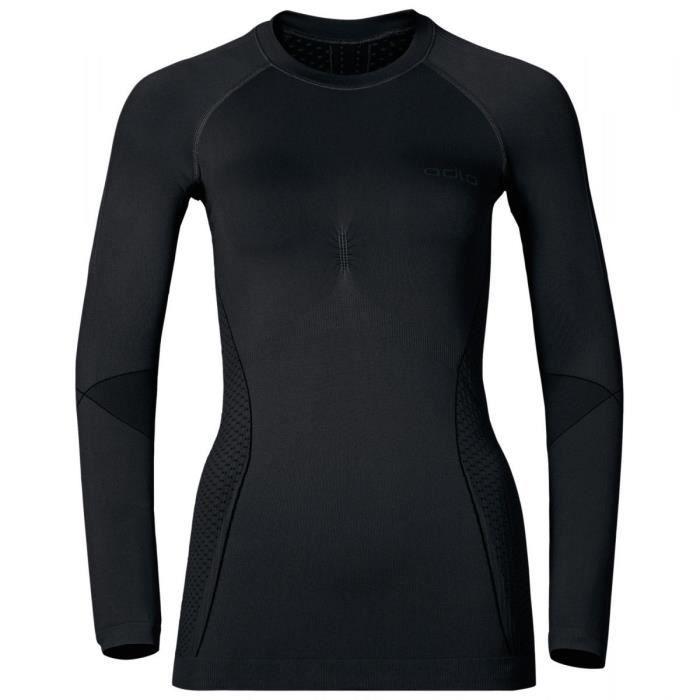 Sous-vêtements Tee-shirts Thermiques Femme-109379-Black Odlo Graphite Grey 96187d73feb
