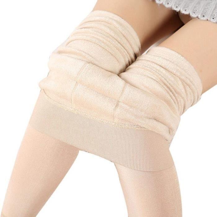 Femme Legging Pantalon Hiver Fille Collant Thermique Chaud Élastique Épais  avec Velours Douce caf6cce36b8