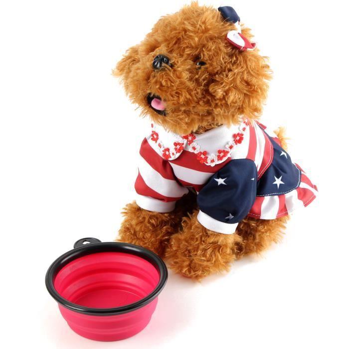 Rosa Silicone Pliable Portable Pet Dog Cat Alimentation D'eau Feeder Bowl Voyage Vaisselle