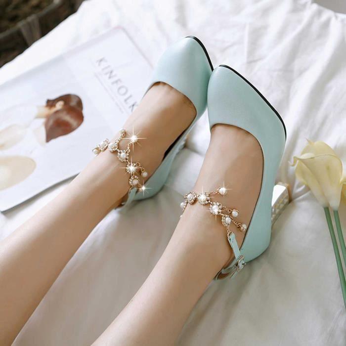 Mode Femme Chaussures Nouvelle Créative Avec Pendentif élégante Solide Soirée Mariage