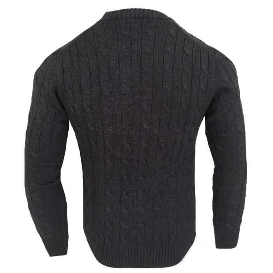 5bec69ced0cf Pull Ralph Lauren maille torsadée Pull homme RF40 gris Gris Gris - Achat    Vente pull - Cdiscount
