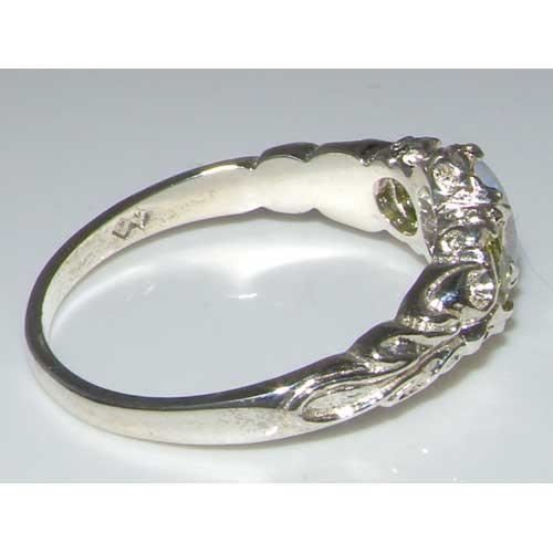 Bague pour Femme en Argent fin 925-1000 sertie d Opale Peridot- Tailles 50 à 64