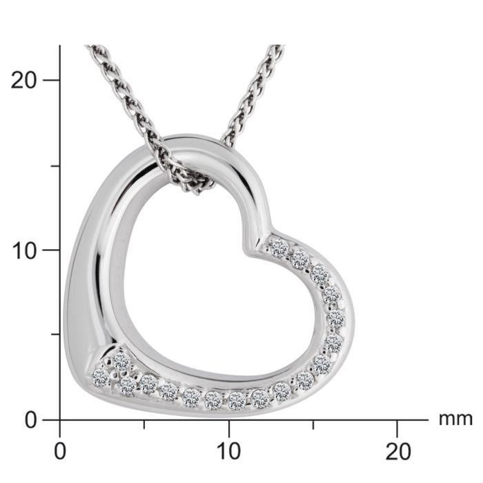 110376 - Collier Femme - Argent 925-1000 4.3 Gr - Diamant Z8P0R