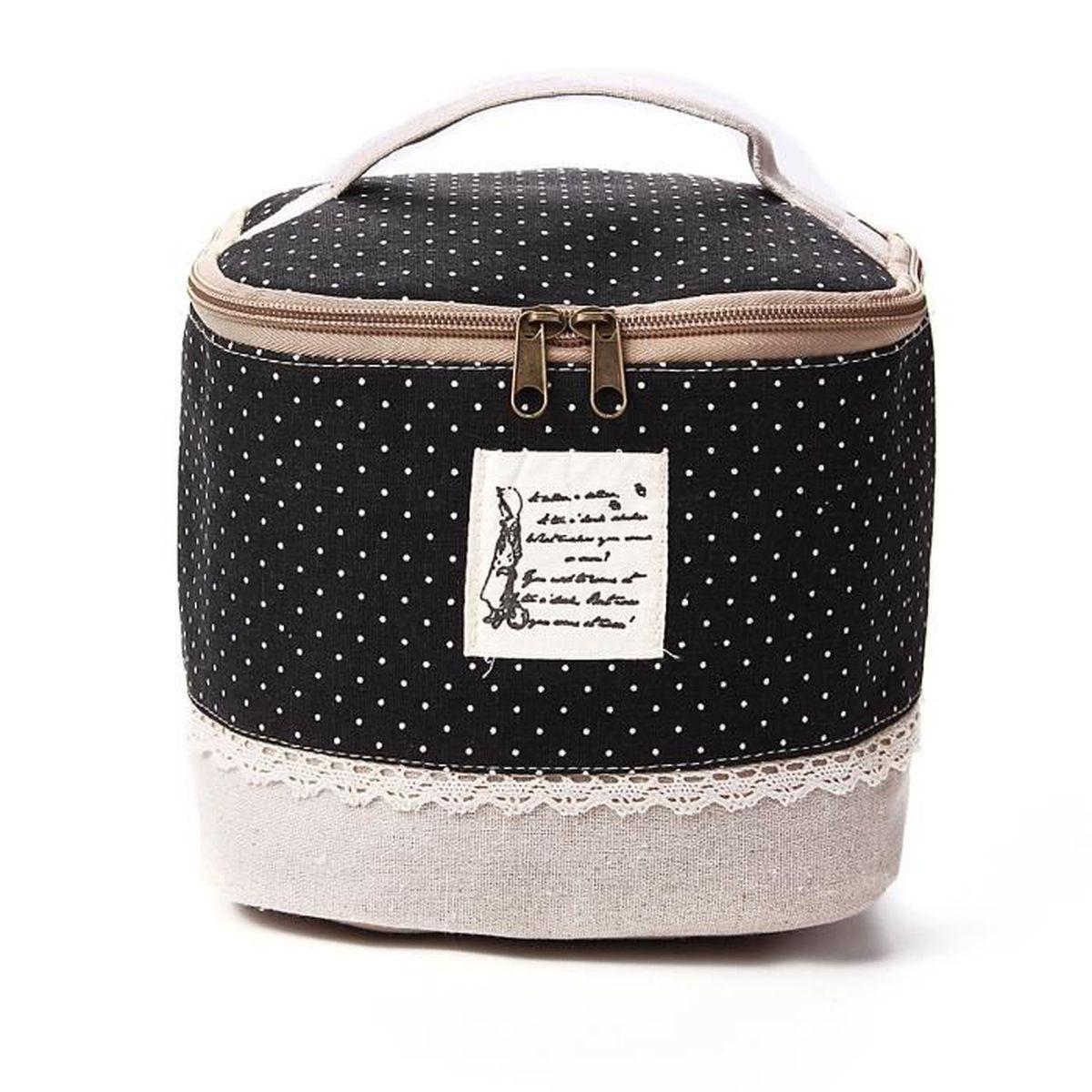 sac coton trousse toilette maquillage cosm tique pochette. Black Bedroom Furniture Sets. Home Design Ideas