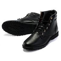 Homme Garçon Martin Boots Outdoor Style à Lacets en PU F7s3rgFlX4