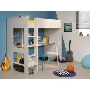 Lit mezzanine avec bureau achat vente lit mezzanine - Lit 1 personne mezzanine ...