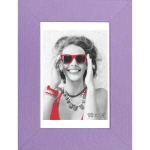 CADRE PHOTO SATIN Cadre photo MDF 10x15 cm Violet satiné