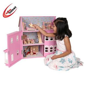 MAISON POUPÉE Maison de poupée  style Victorien + 40 pièces