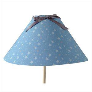 cool abatjour abat jour conique toiles bleu ciel et gris avec f with abat jour fushia. Black Bedroom Furniture Sets. Home Design Ideas