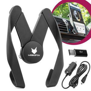 FIXATION - SUPPORT Porte-téléphone portable de voiture + câble de rec