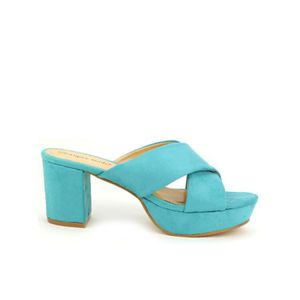 SANDALE - NU-PIEDS sandale - nu-pieds, Sandales Turquoise Chaussures