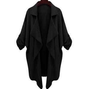 1b46e90f2939 MANTEAU - CABAN Noir Marin Mode Manteau Femme Longue 2017 d Automn ...
