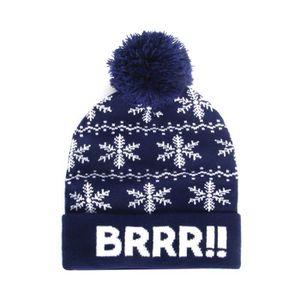 358b6168bd8f5 BONNET - CAGOULE Bonnet à pompon homme - Brrr - Bleu