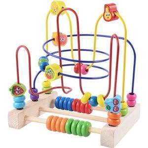 BOULIER Circuit à Boule Enfant Boulier Montessori en Bois
