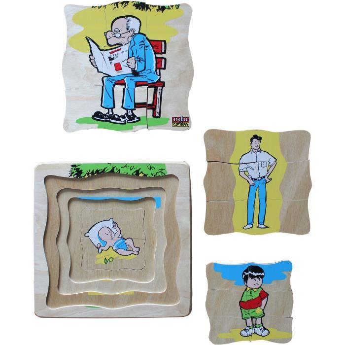BSM Lot de 4 Puzzles L'évolution de la vie - L'homme - Livré à l'unité