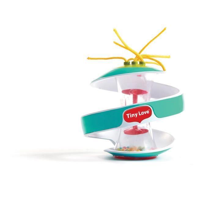 TINY LOVE jouet spiral rainstick bleu