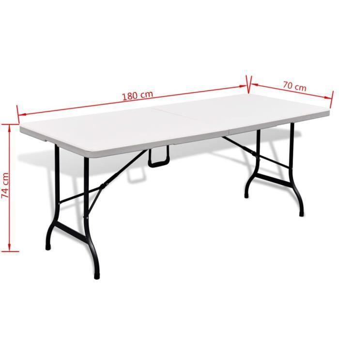 Table de jardin pliable avec banc - Achat / Vente pas cher